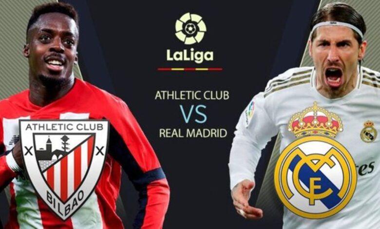 نتيجة مباراة ريال مدريد وأتلتيك بلباو 1-0 يلا شوت في الجولة قبل الأخيرة الدوري الأسباني
