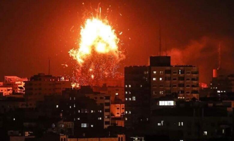 مقاتلات إسرائيلية تشن غارات عنيفه على قطاع غزة