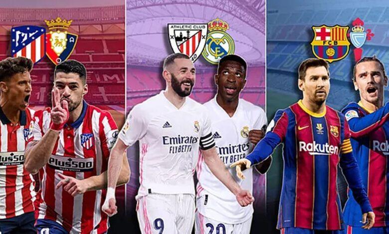 ترتيب الدوري الإسباني 2021 قبل مباريات الجولة 38 والأخيرة في الليغا