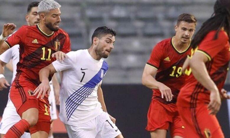 ملخص نتيجة مباراة بلجيكا واليونان 1-1 ودية