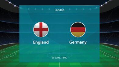 يلا شوت ملخص نتيجة مباراة انجلترا والمانيا 2-0